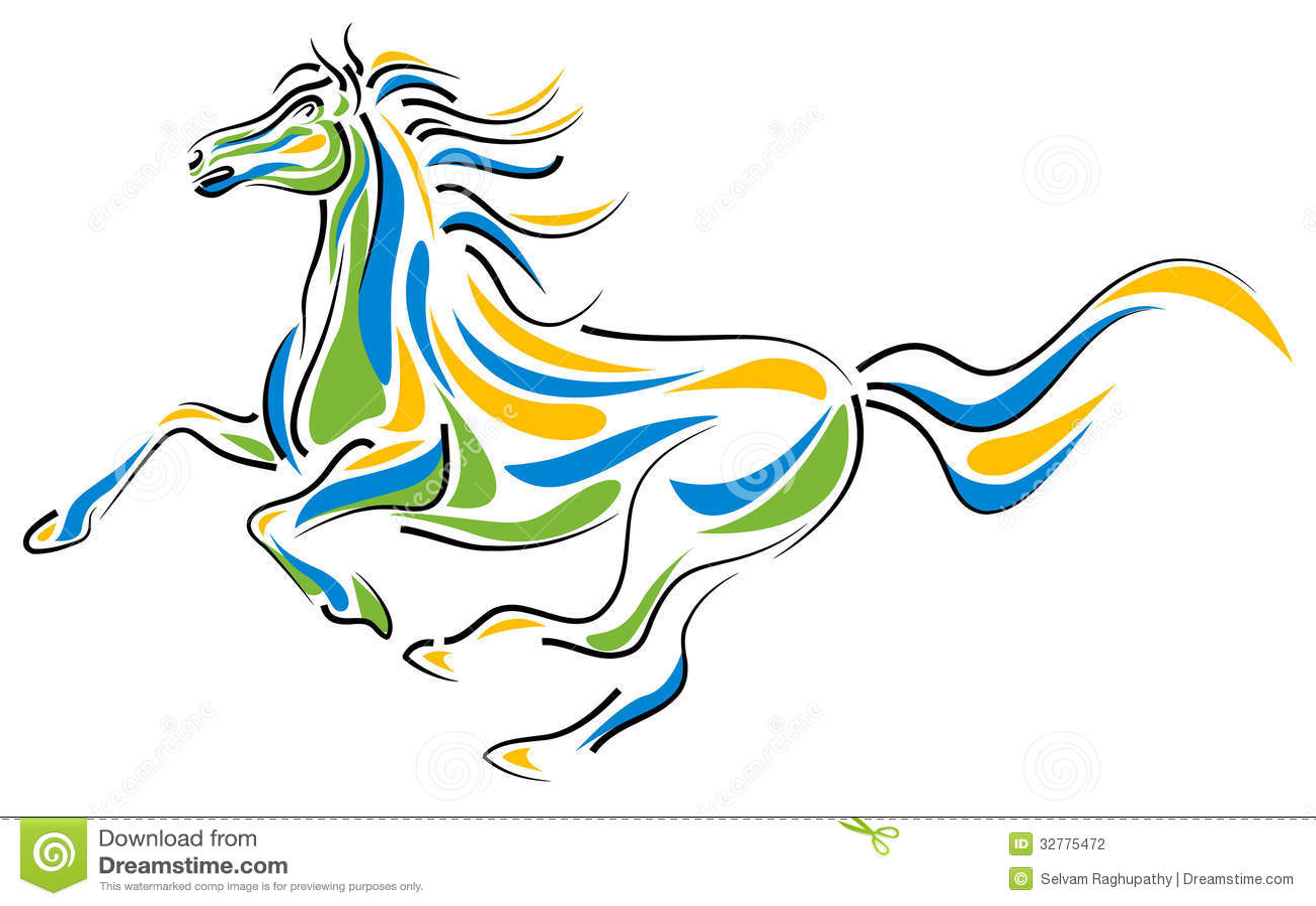 Brush Stroke Horse Stock Photography Image 32775472