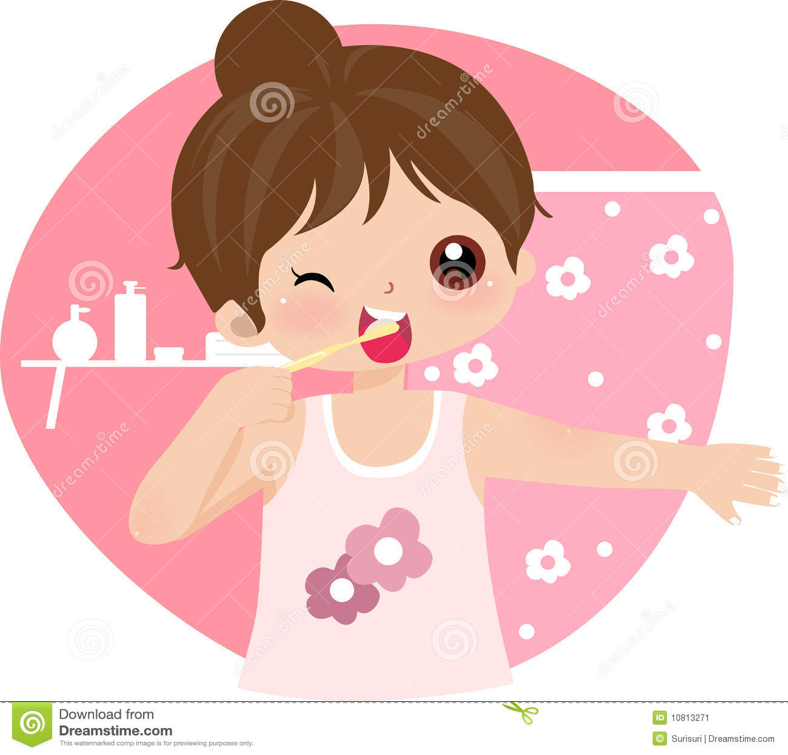 brush teeth stock vector illustration of child foam 10813271