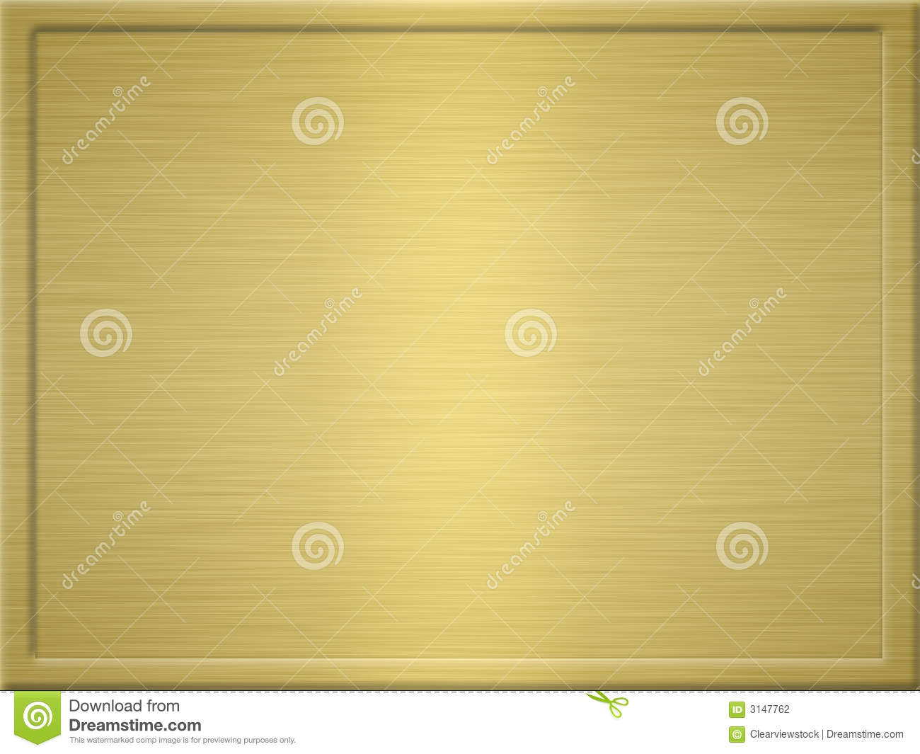 Brushed gold metal plaque