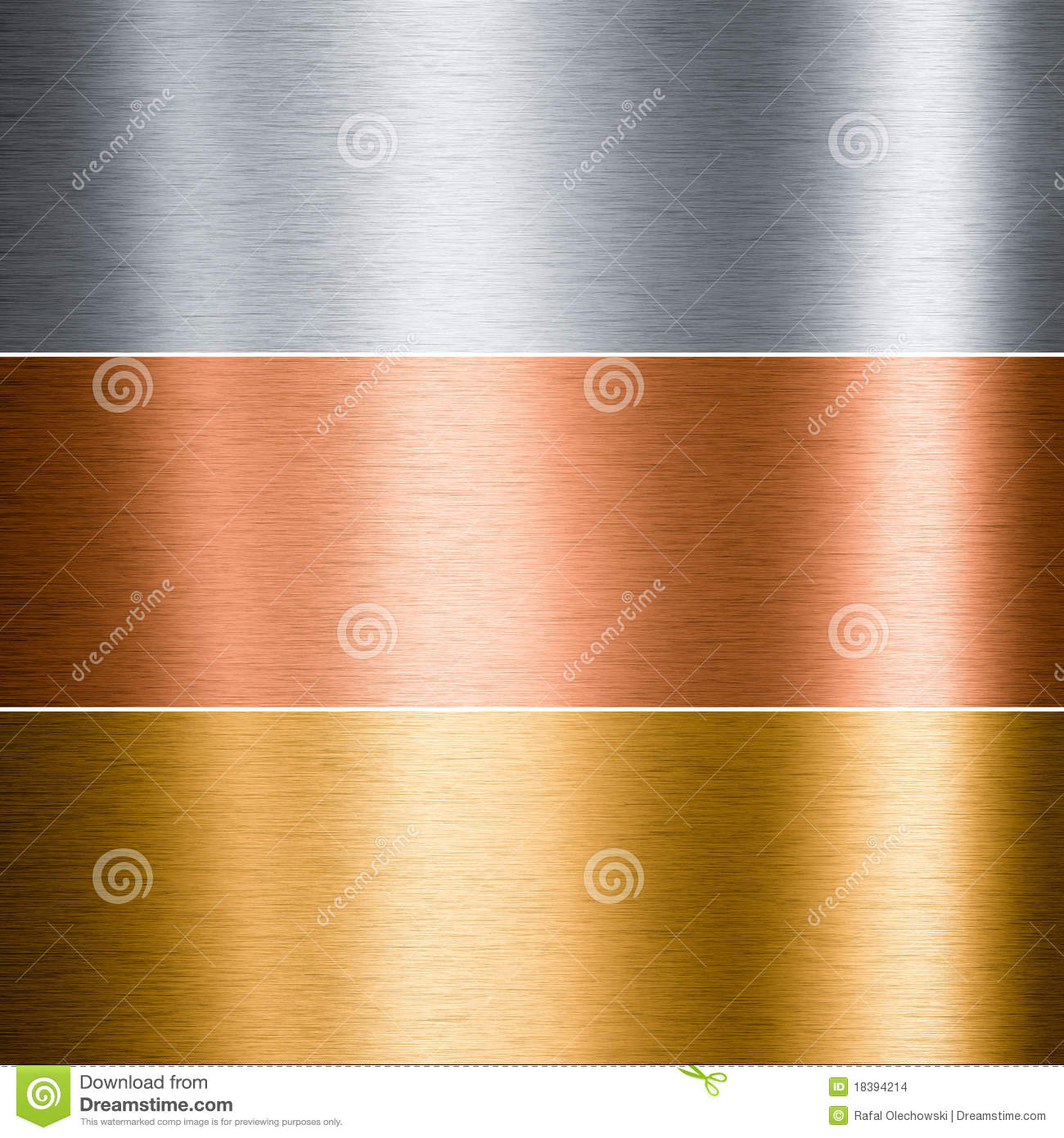 Brushed Metal Aluminum Copper Gold Stock Images Image