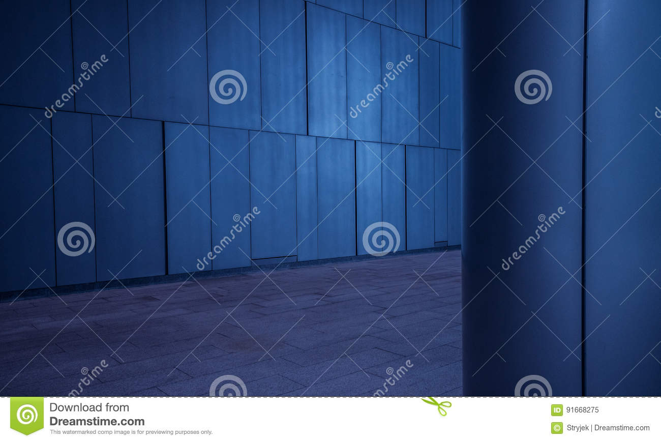 Brushed Metal Tiled Panels Wall And Column Background In Modern ...