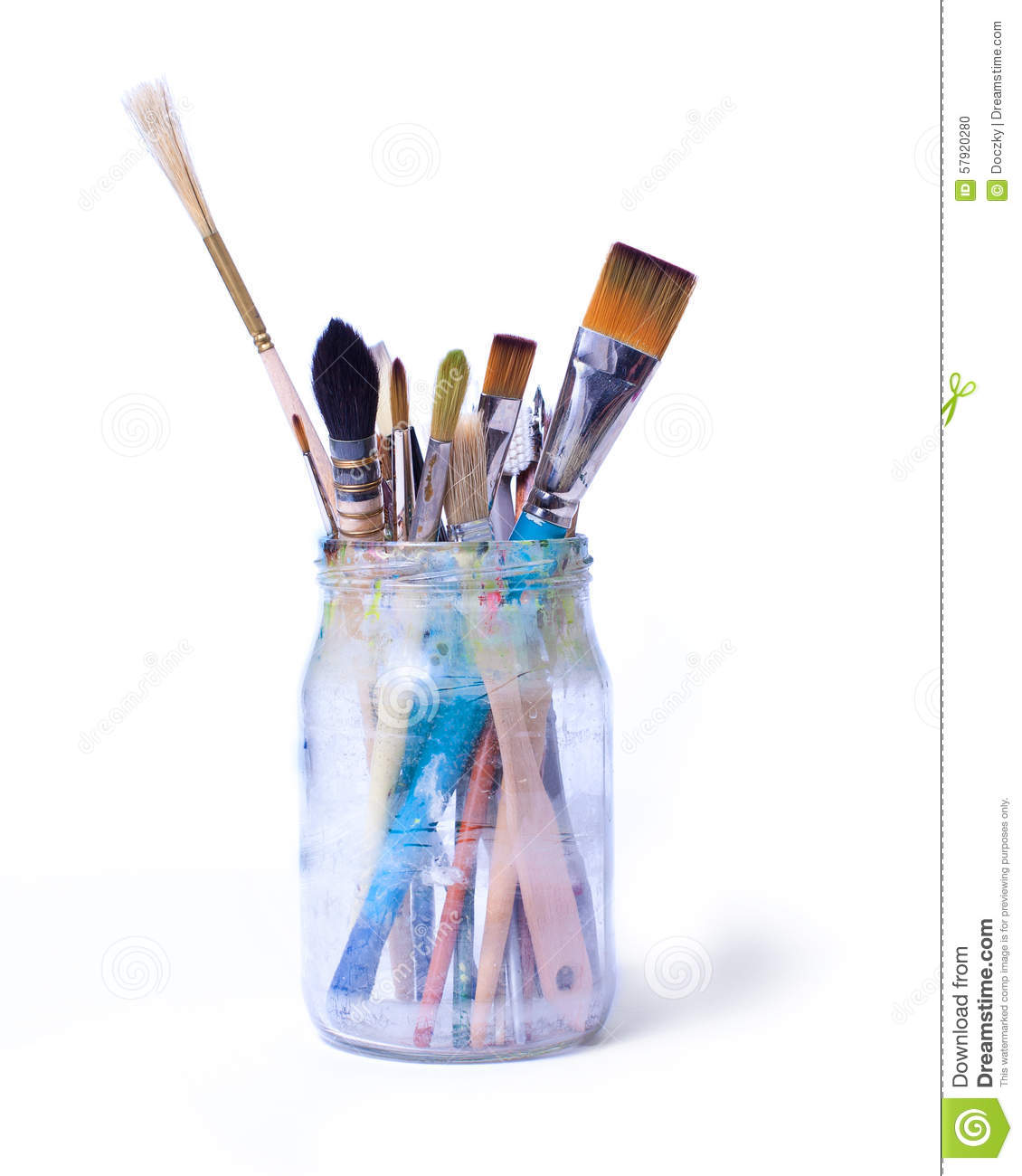 Brushes In A Jar Stock Photo Image 57920280