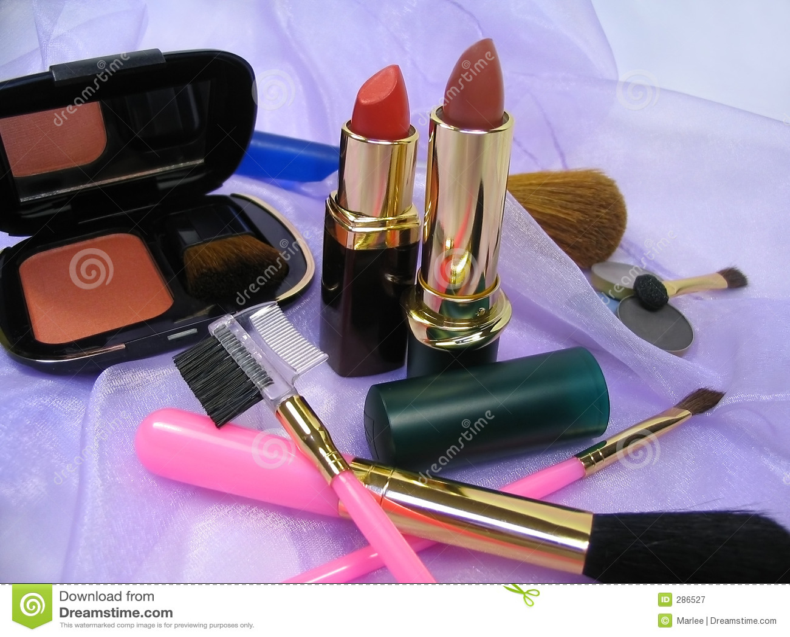 Brushes kosmetiska produkter