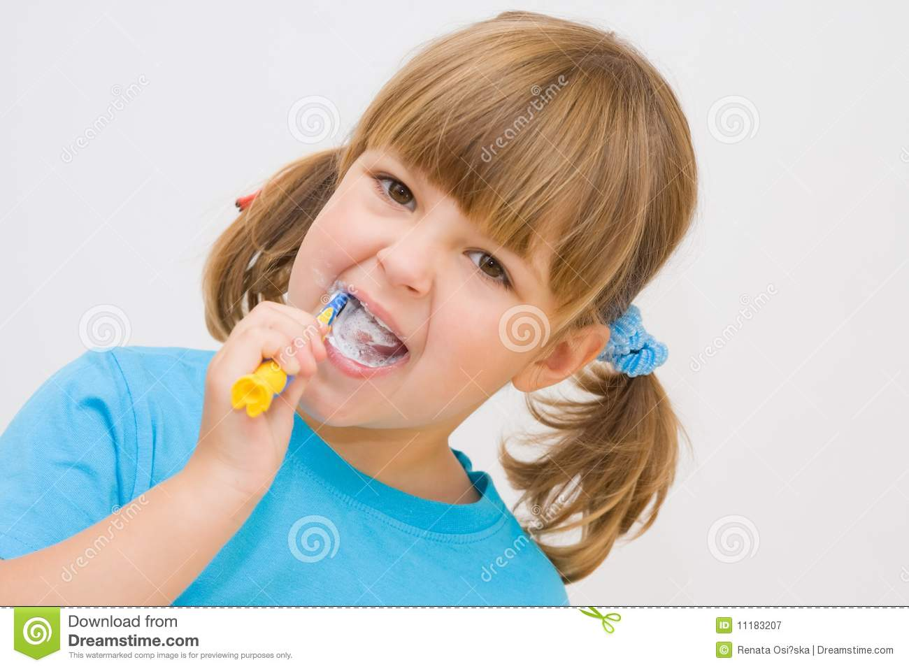 c086bd7860 Brushing my teeth stock image. Image of cleaning