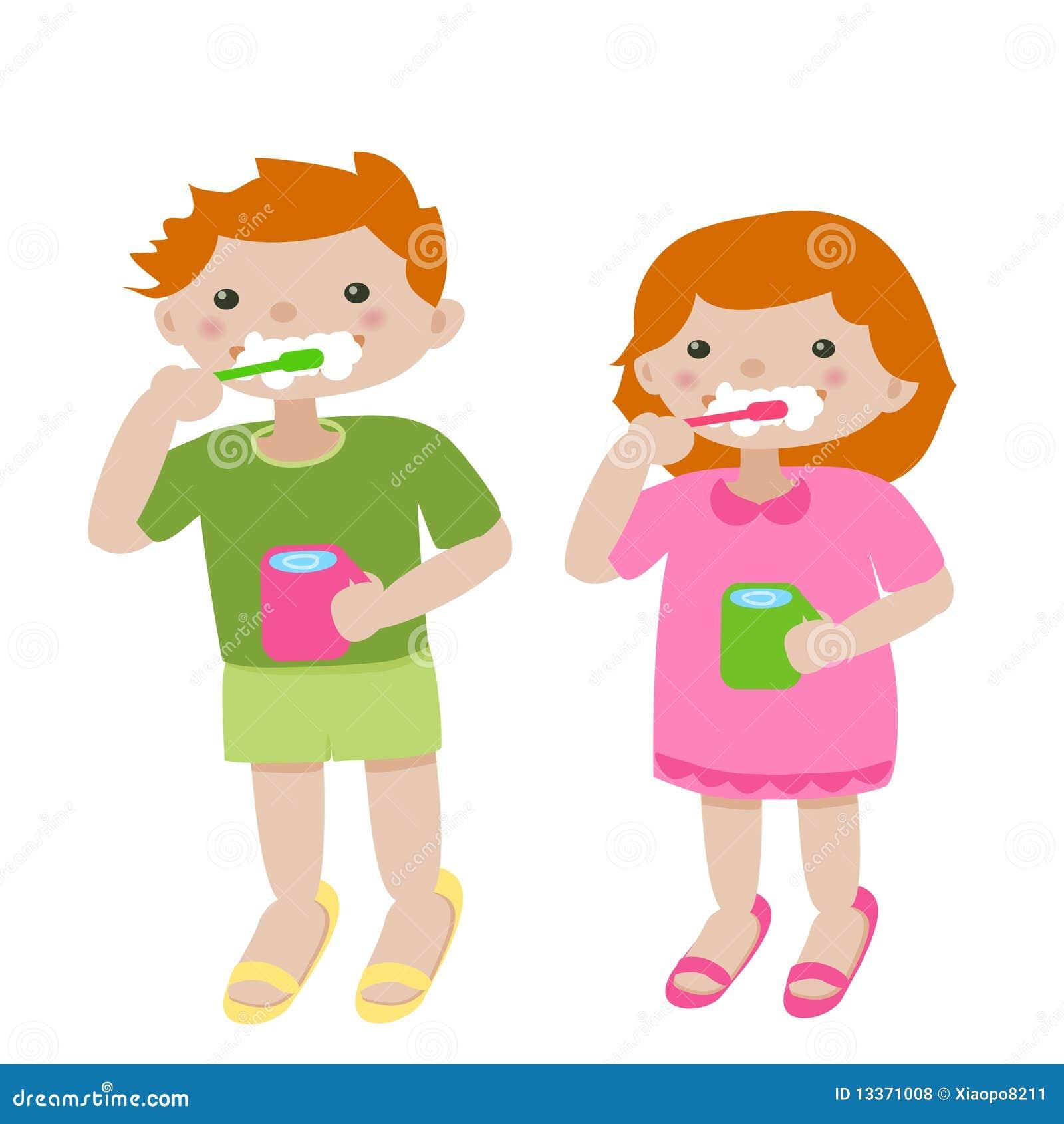 Brushing Teeth Stock Photo Image Of Innocence Life