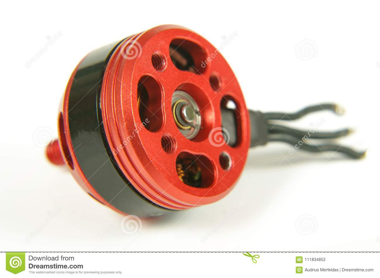 Brushless Motor With Wires Isolated On The White Background Stock Wiring
