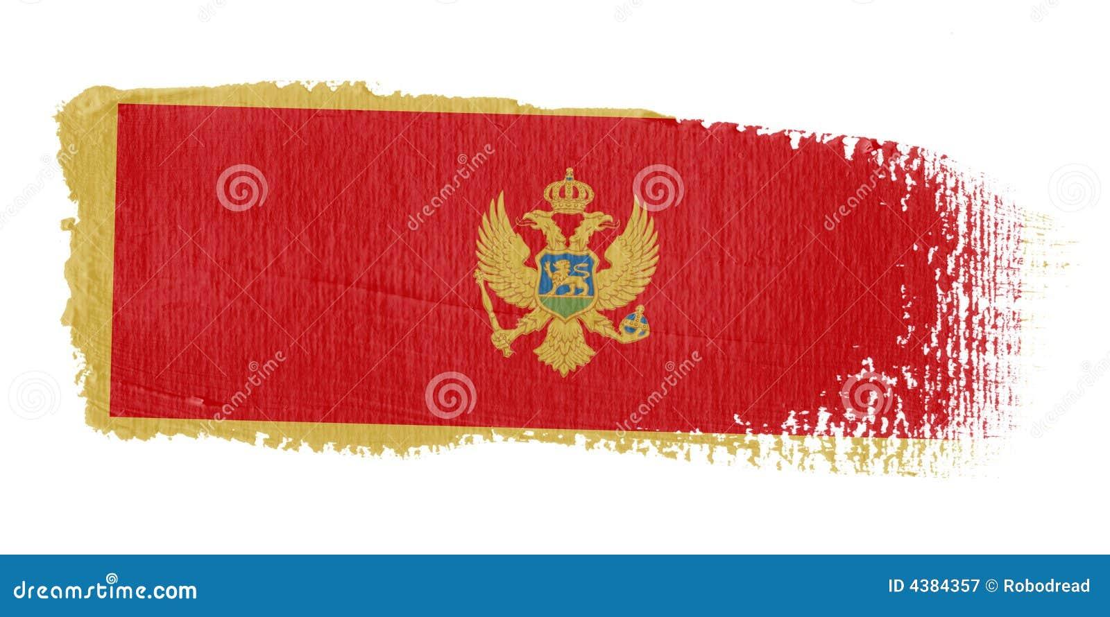 Brushstroke Czarnogóry bandery