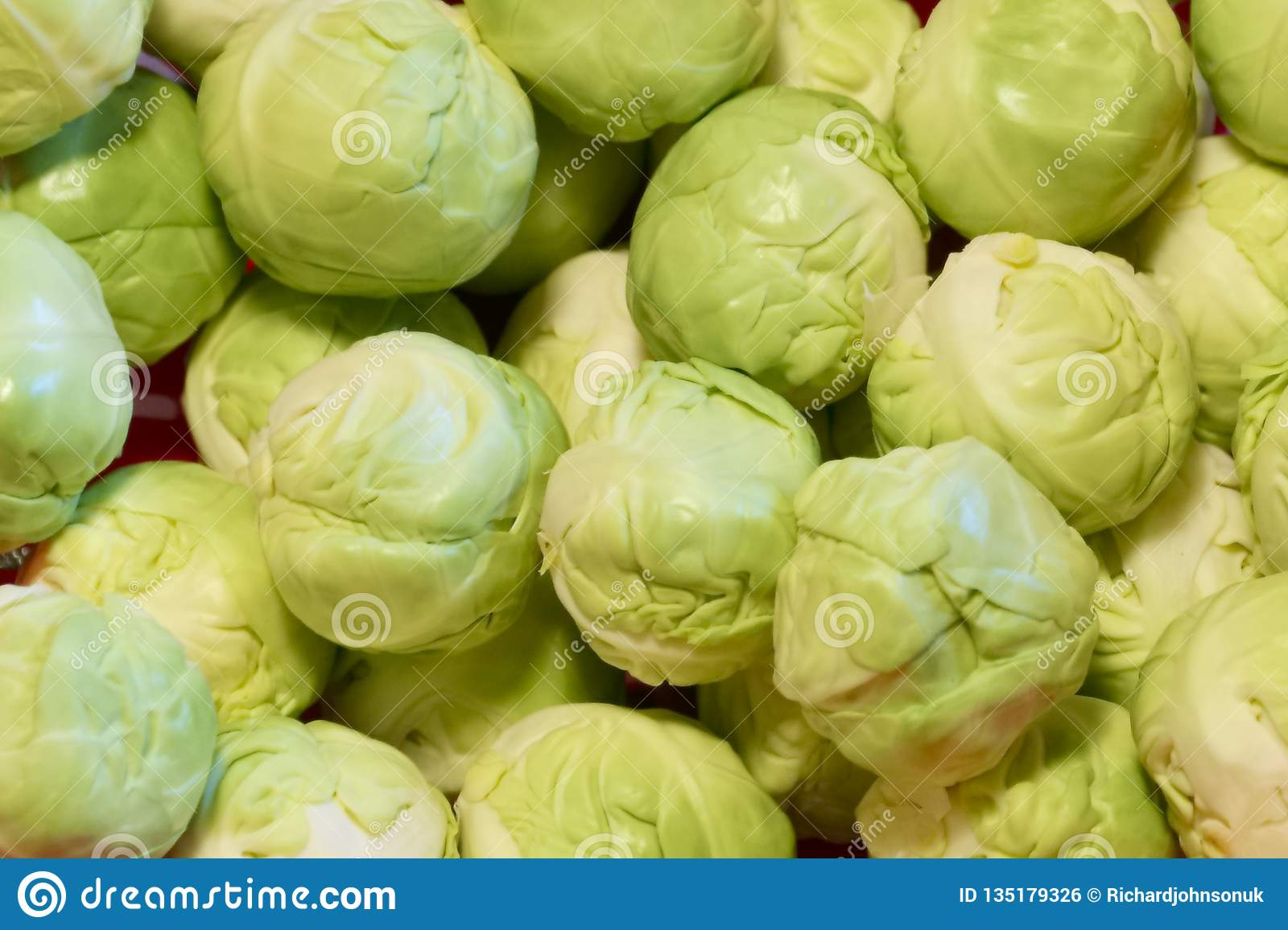 Brussel sprouts Christmas festive food close up