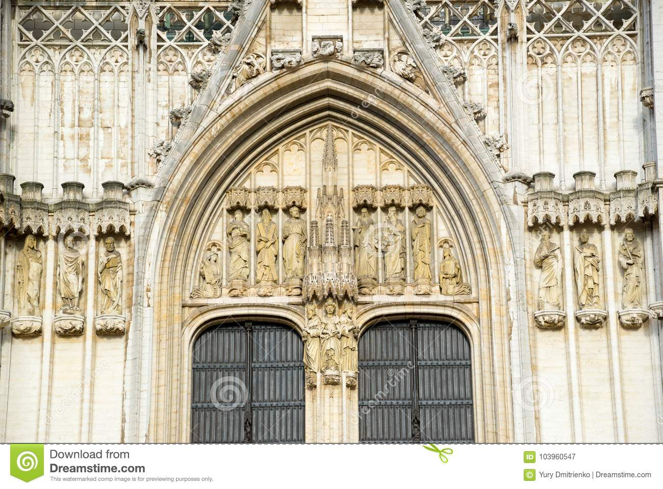Cathedral of St. Michael and St. Gudula in Brussels, Belgium