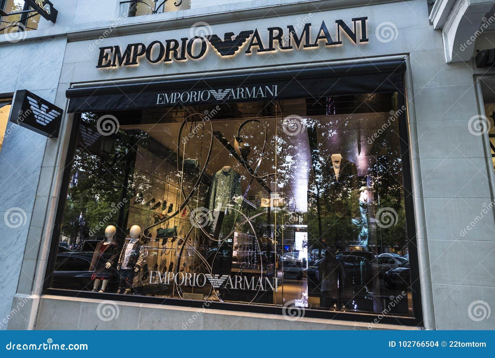 emporio armani shop