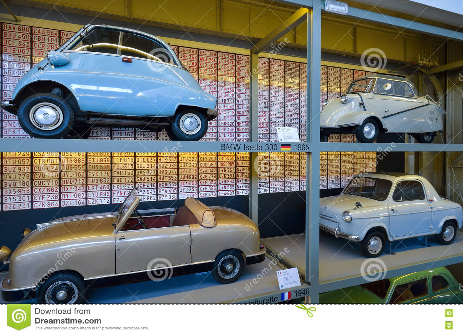 BRUSSELS, BELGIUM - DECEMBER 05 2016 - Autoworld Museum, Old Cars ...