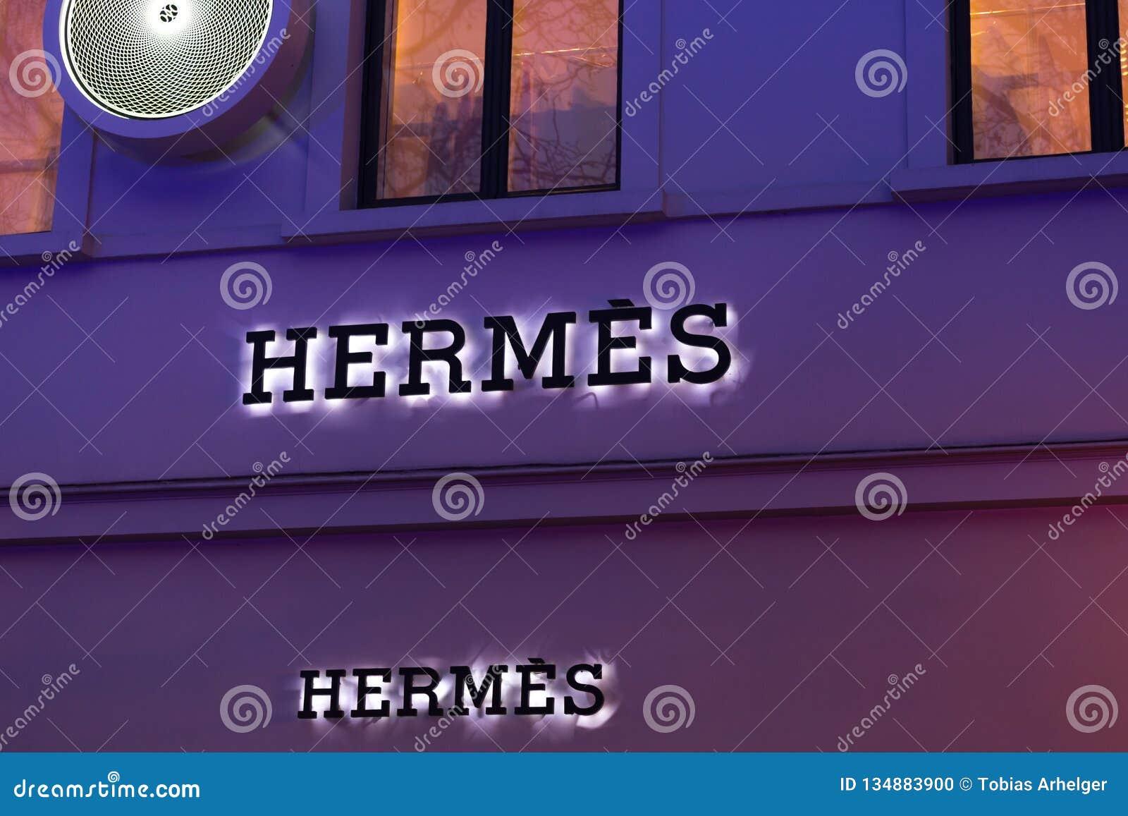 Brussels, brussels/belgium - 13 12 18: Hermès store sign in brussels belgium
