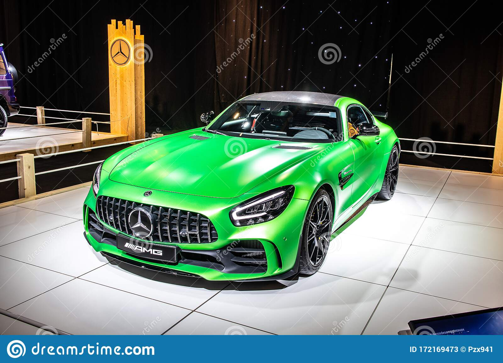 Mercedes Amg Gt R Roadster V8 Bi Turbo With M178 Engine Brussels Motor Show High Performance Sport Car Produced By Mercedes Benz Editorial Stock Photo Image Of Benz Shiny 172169473