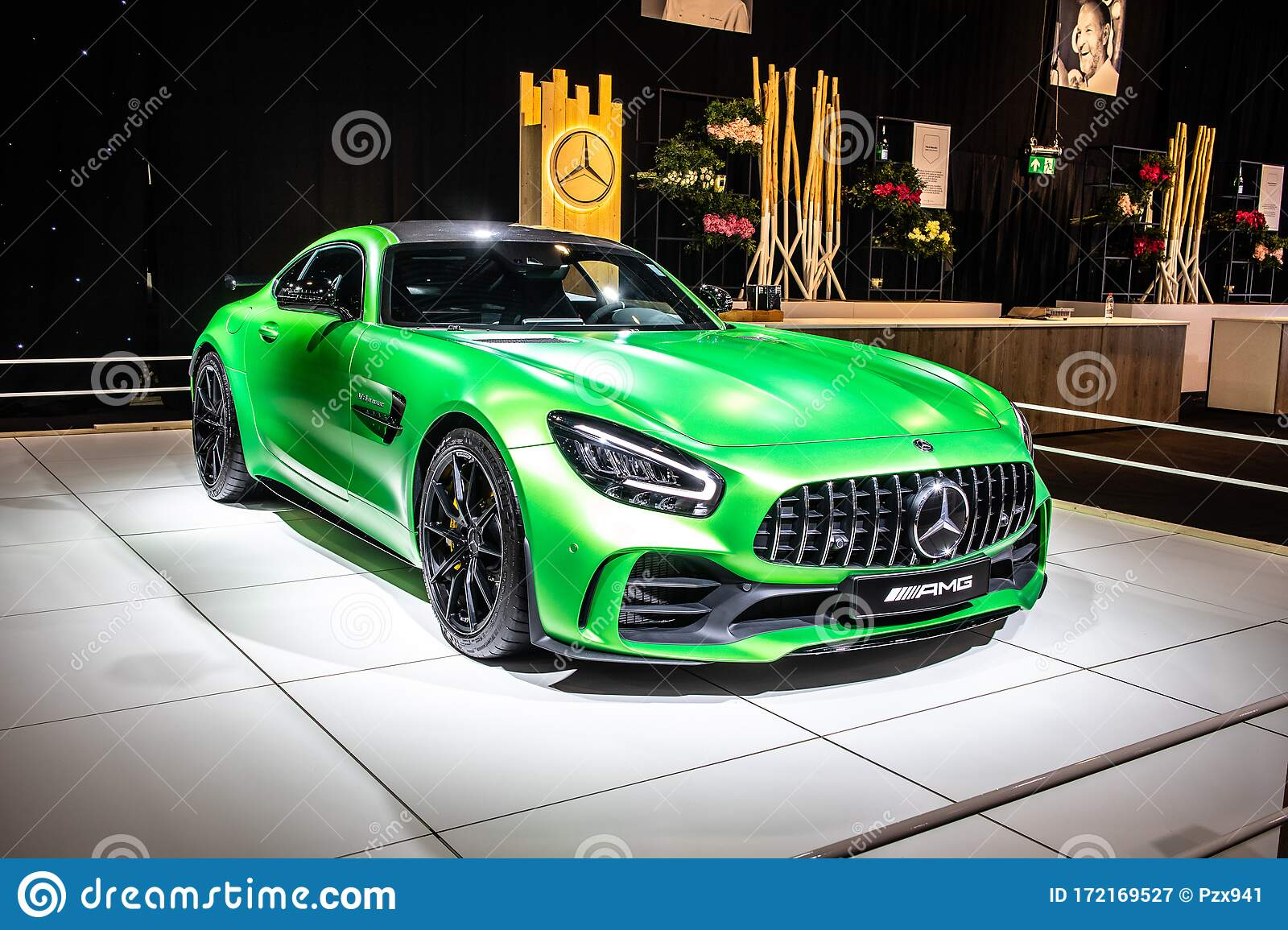 Mercedes Amg Gt R Roadster V8 Bi Turbo With M178 Engine Brussels Motor Show High Performance Sport Car Produced By Mercedes Benz Editorial Photography Image Of Drive Auto 172169527