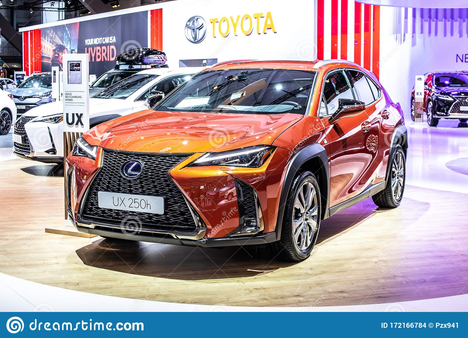 New Lexus Ux 250h Hybrid Compact Luxury Crossover At Brussels Motor Show Suv Produced By Japanese Car Maker Lexus Editorial Stock Image Image Of Brussels Expensive 172166784