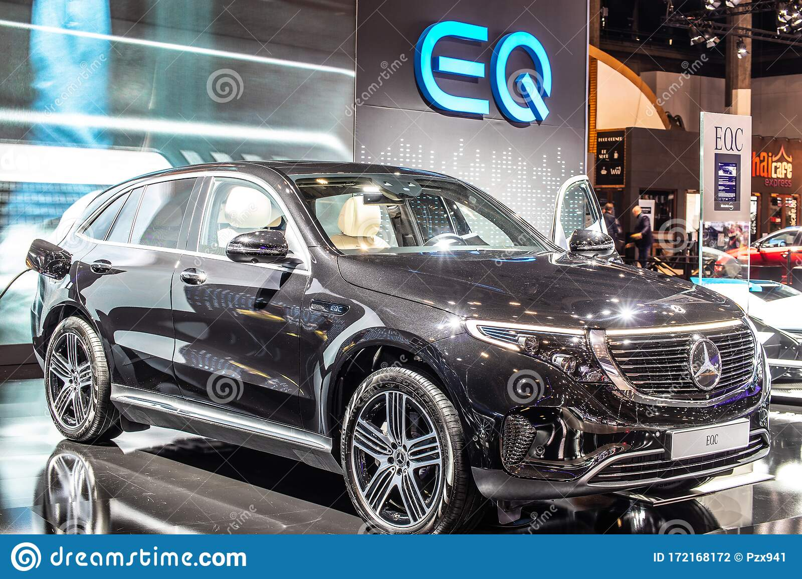 Electric Mercedes Eqc 400 4matic 300kw Suv 2020 Model Year Eq Brand At Brussels Motor Show Produced By Mercedes Benz Editorial Photography Image Of Mercedesbenz Battery 172168172