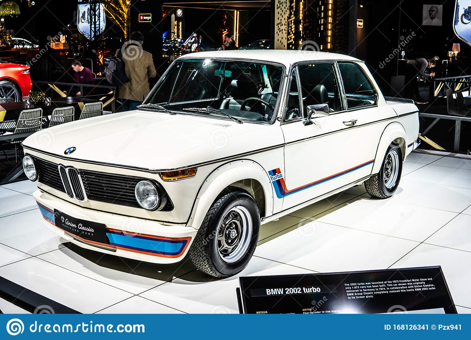Vintage White Iconic Bmw 2002 Turbo 1973 Ginion Classics Glossy And Shiny Old Classic Retro Car At Brussels Motor Show Editorial Photo Image Of Classical Collection 168126341