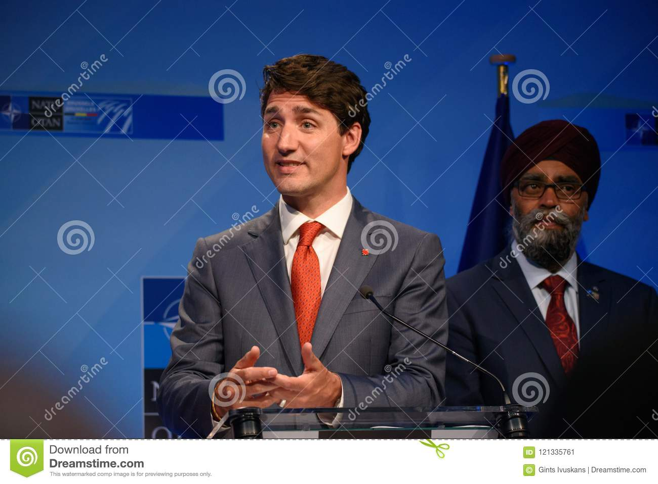 Justin Trudeau, Prime Minister of Canada and Harjit Singh Sajjan, Minister of Defence of Canada