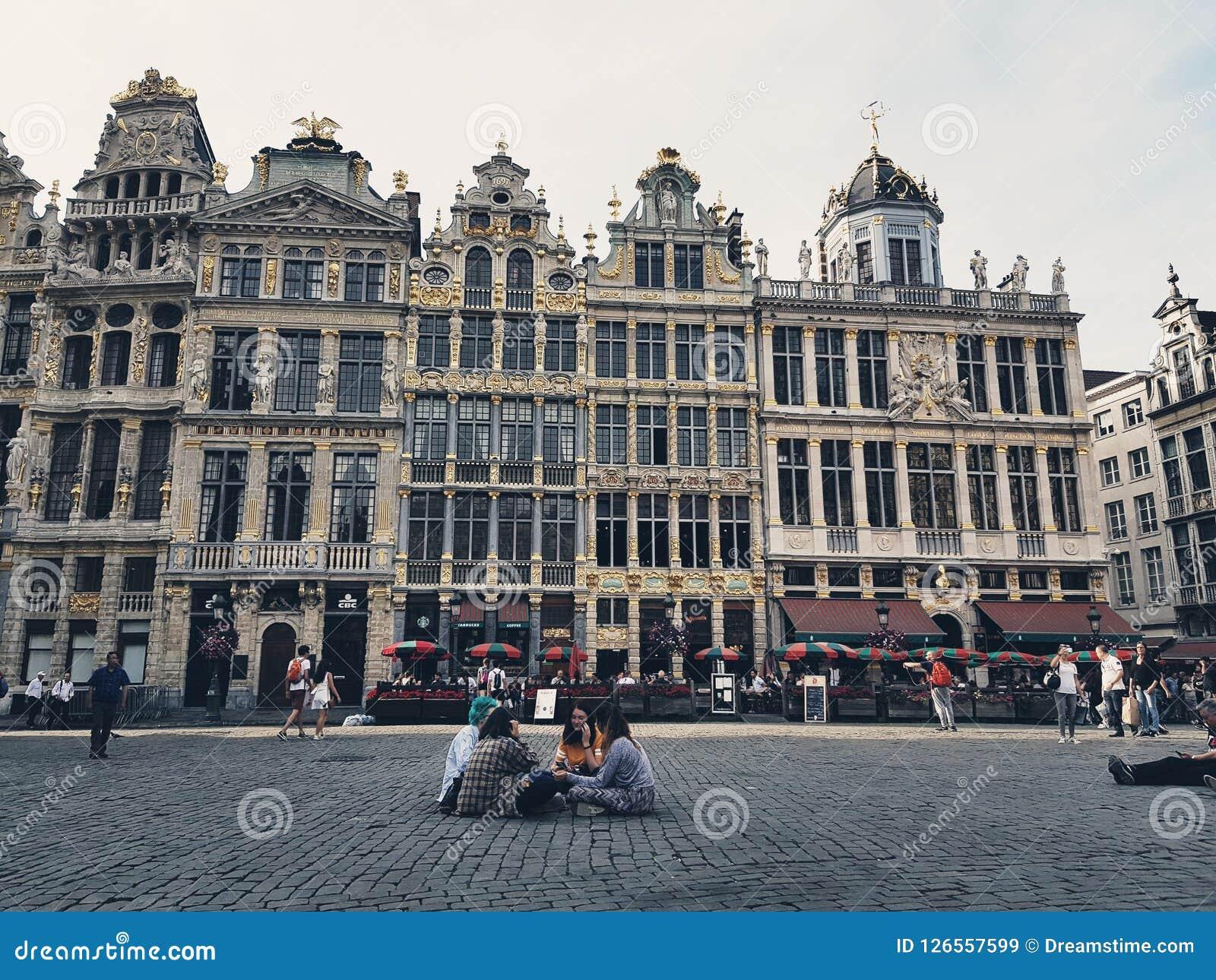 brussels, belgium, travel, town, europe editorial stock image