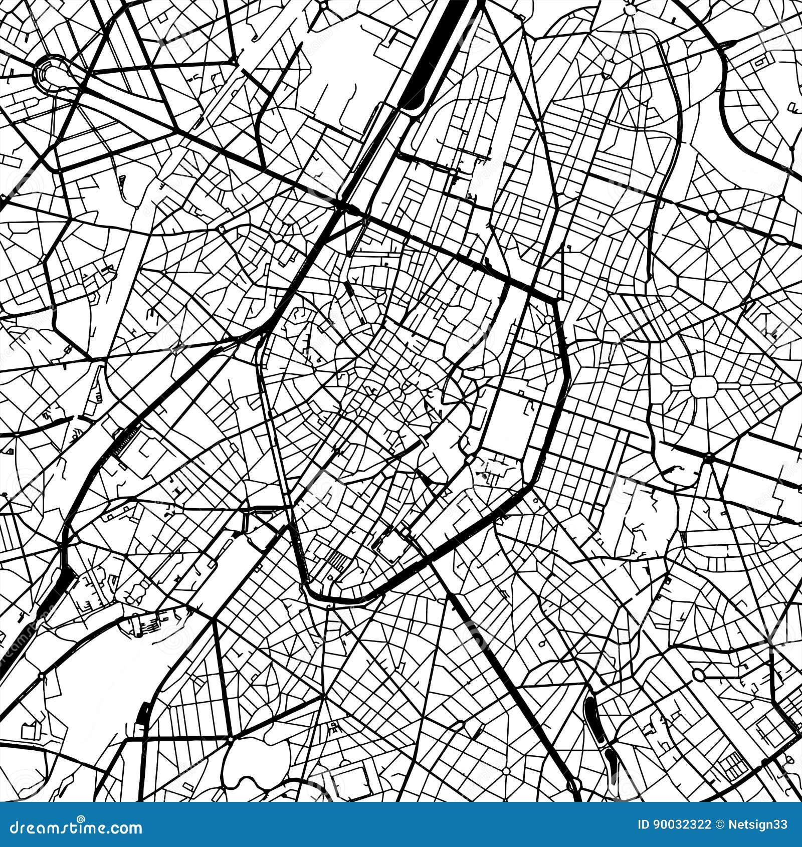 Brussels Belgium Vector Map Stock Vector - Illustration of brussels ...