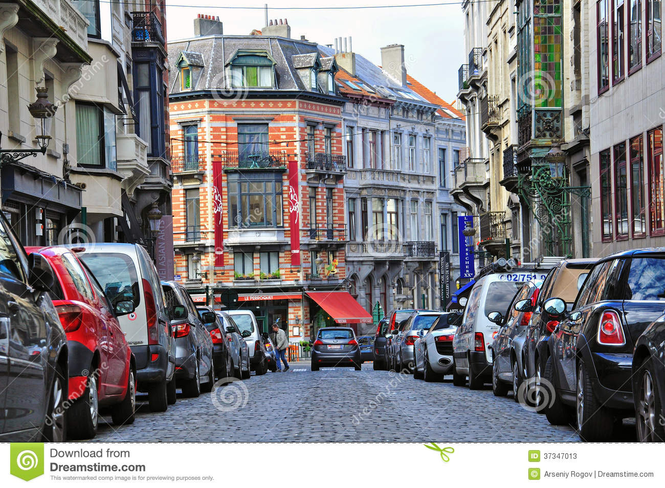 Download Brussels city street editorial stock photo. Image of europe - 37347013