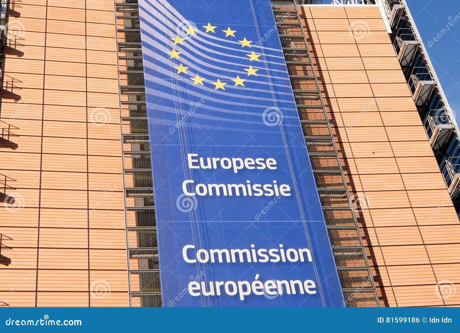 Brussels european flags