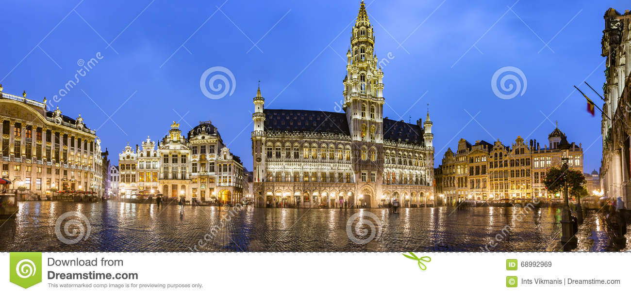 Brussels grand place panorama