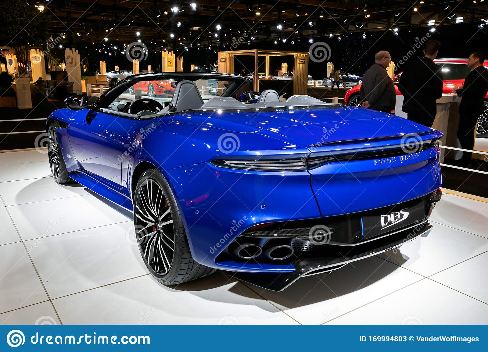 Brussels Jan 9 2020 Aston Martin Dbs Superleggera Volante Sports Car Showcased At The Brussels Autosalon 2020 Motor Show Editorial Stock Photo Image Of Type Fast 169994803