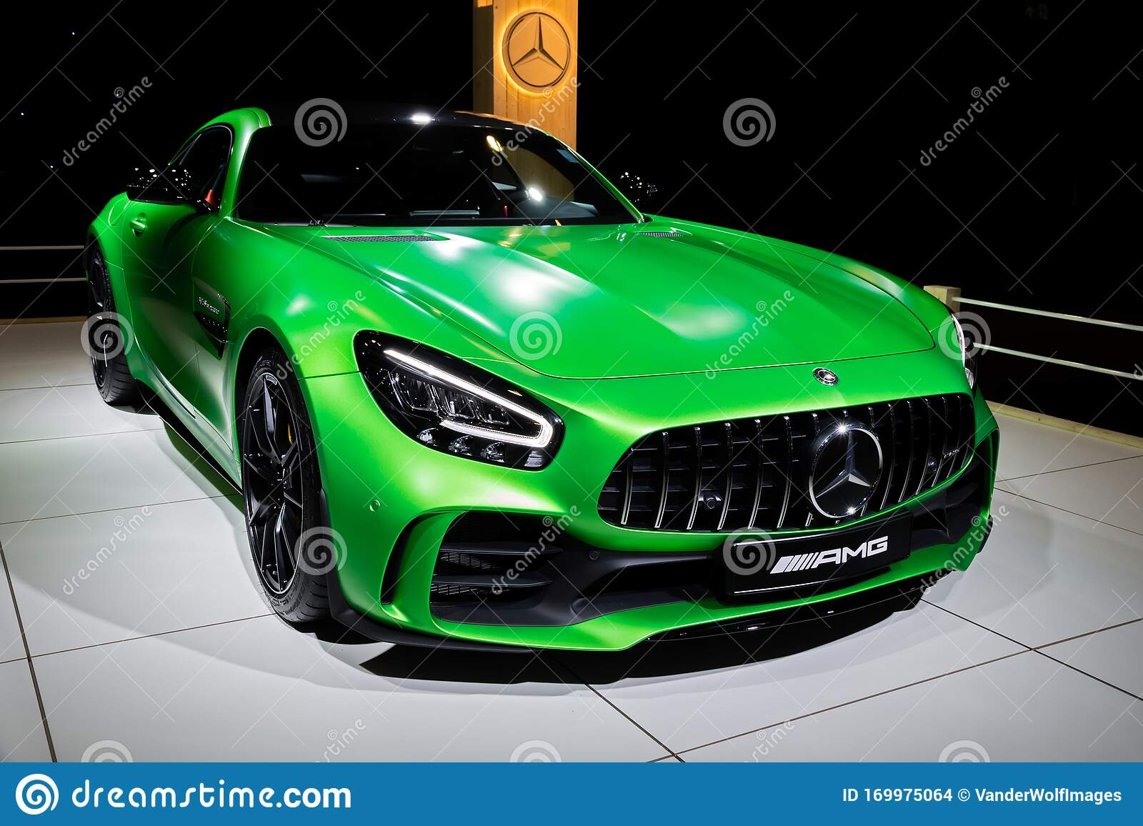 BRUSSELS - JAN 9, 2020: Mercedes-AMG GT R Coupe Sports Car ...