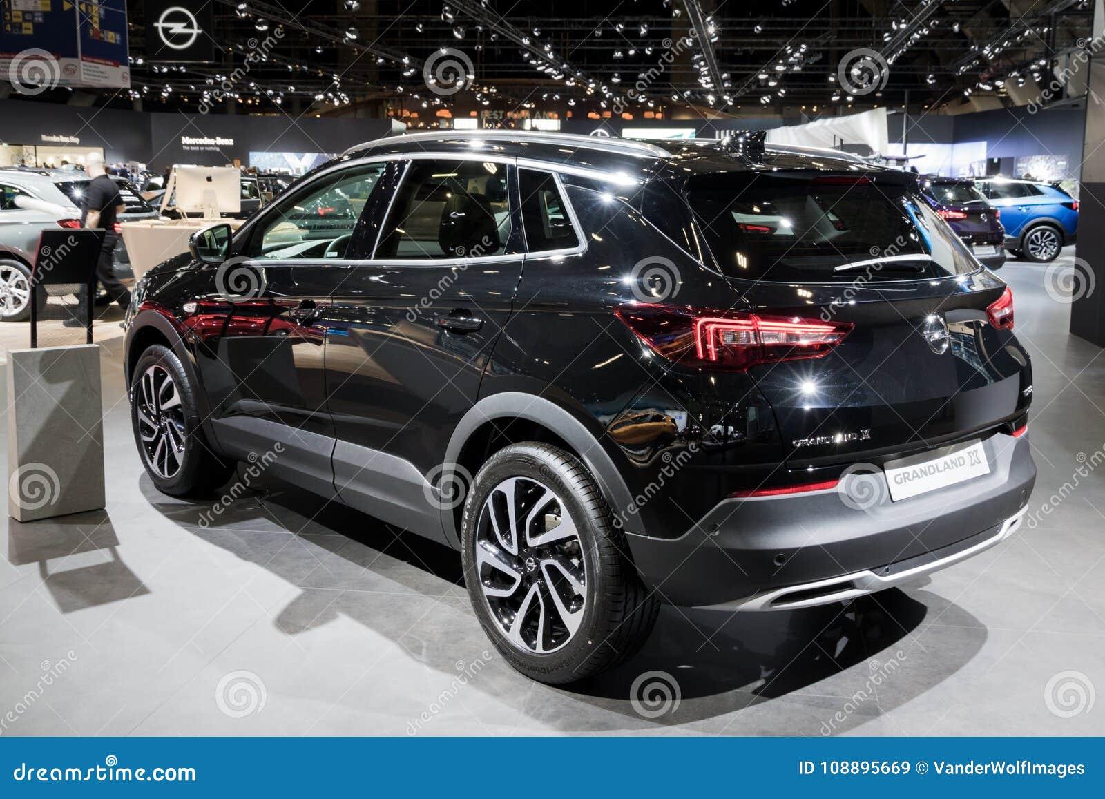 https www dreamstime com brussels jan opel grandland new suv car shown brussels motor show new opel grandland suv car image108895669