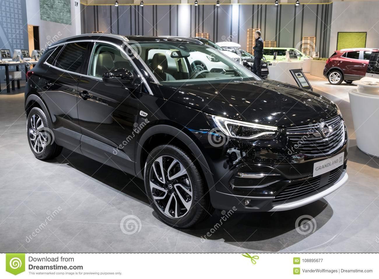 new 2018 opel grandland x suv car editorial photography image of auto model 108895677. Black Bedroom Furniture Sets. Home Design Ideas