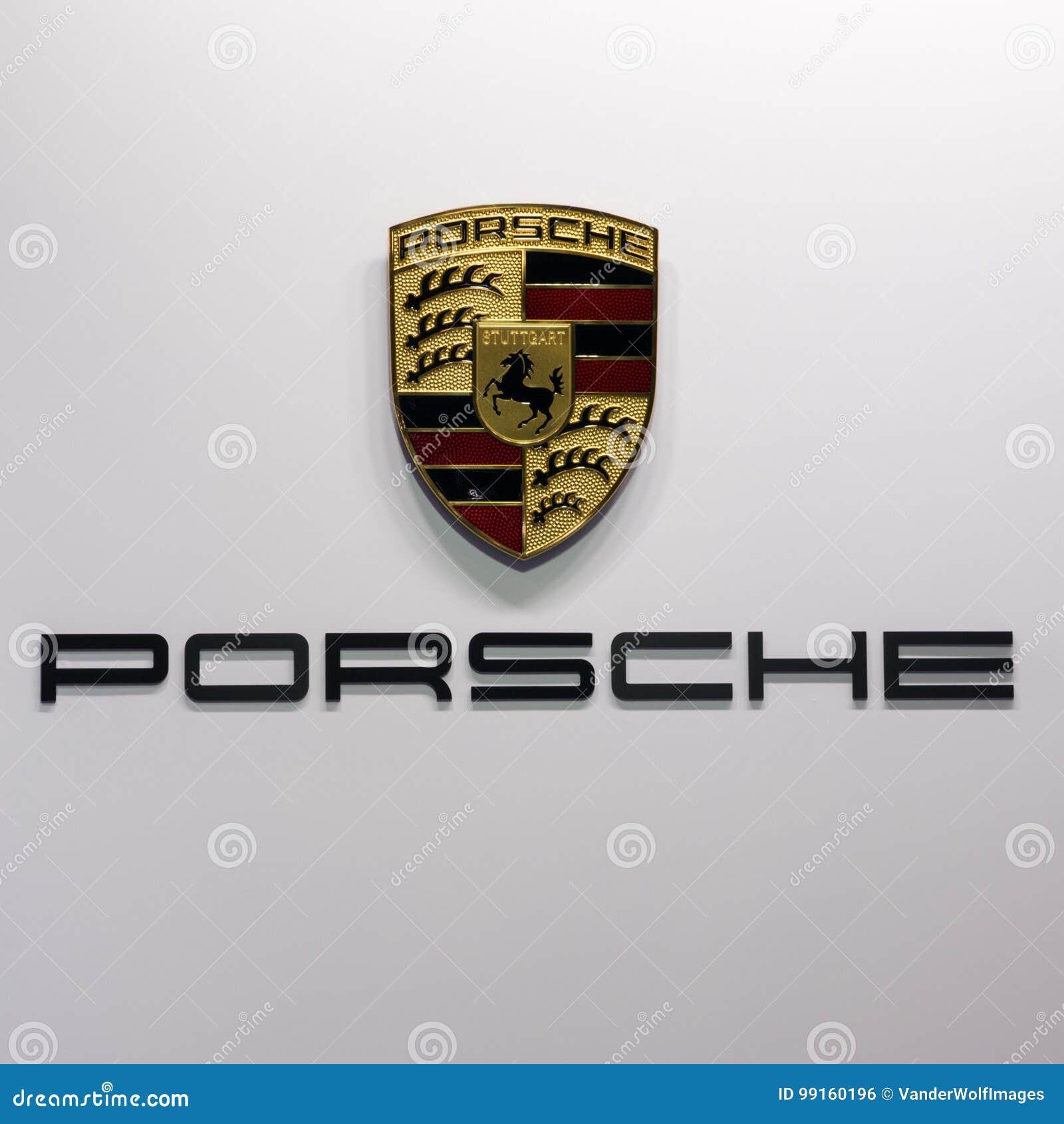 Porsche Car Logo Editorial Photo Image Of Showroom Show 99160196