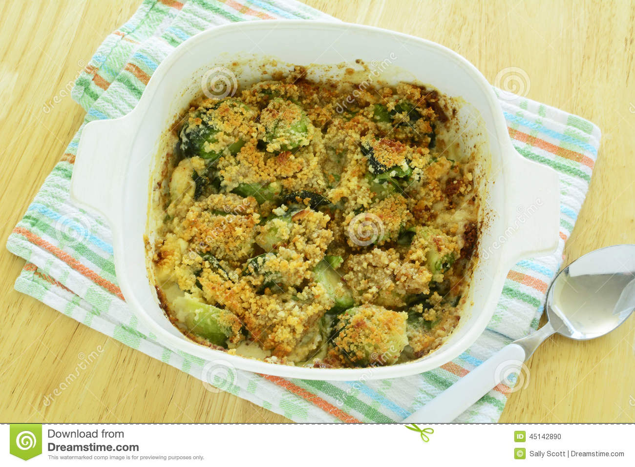 Brussels Sprouts Gratin Stock Photo - Image: 45142890