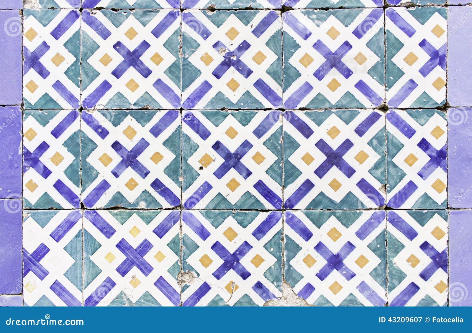 Download Bruten Keramisk Tegelplatta Fotografering för Bildbyråer - Bild av facade, collage: 43209607
