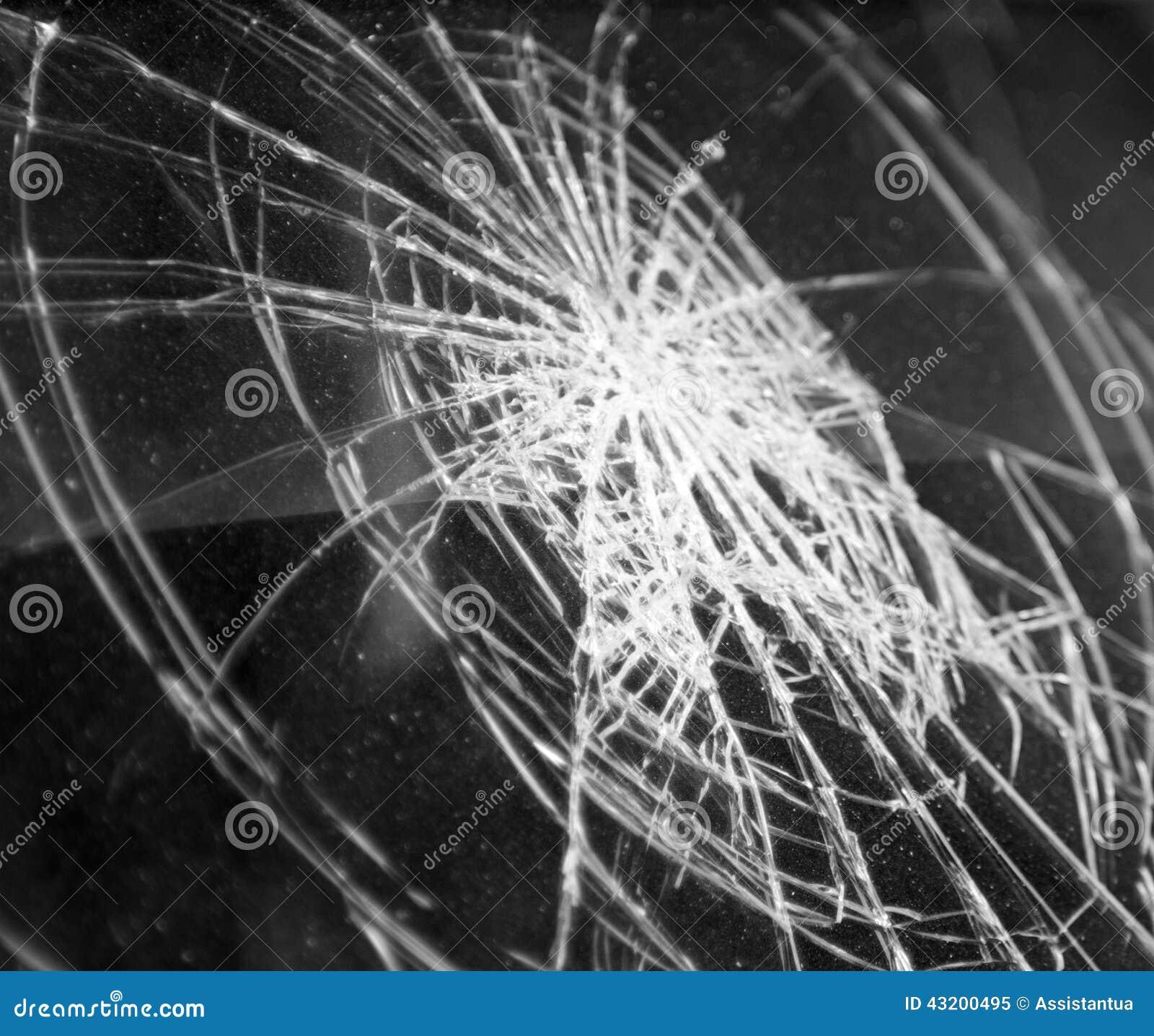Download Brutet Exponeringsglas I Bil Fotografering för Bildbyråer - Bild av panera, dela: 43200495