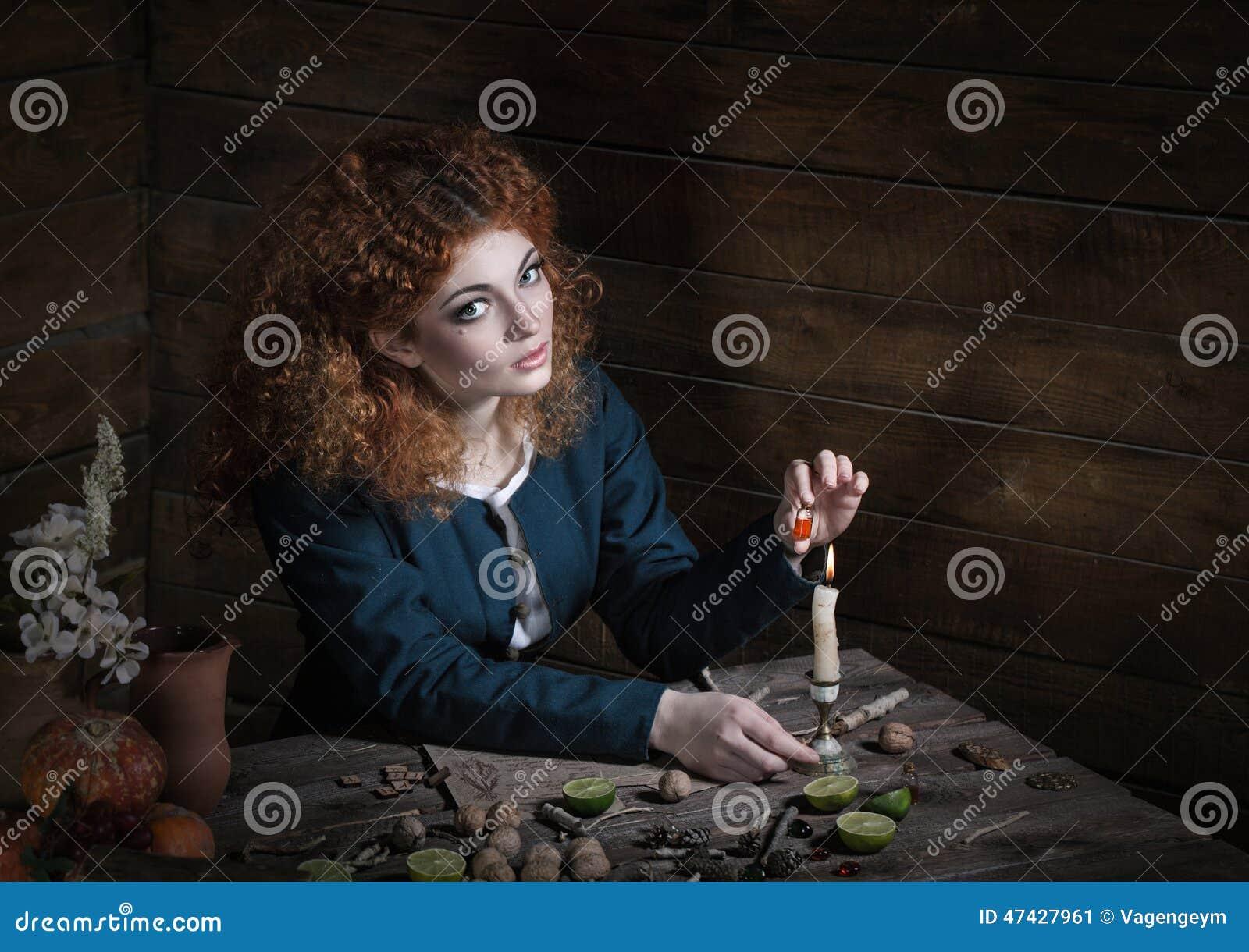 Bruxa que prepara a poção