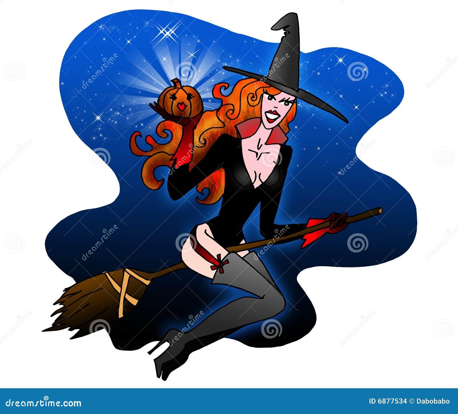 Bruxa Sexy De Halloween Ilustracao Stock Ilustracao De Ceu