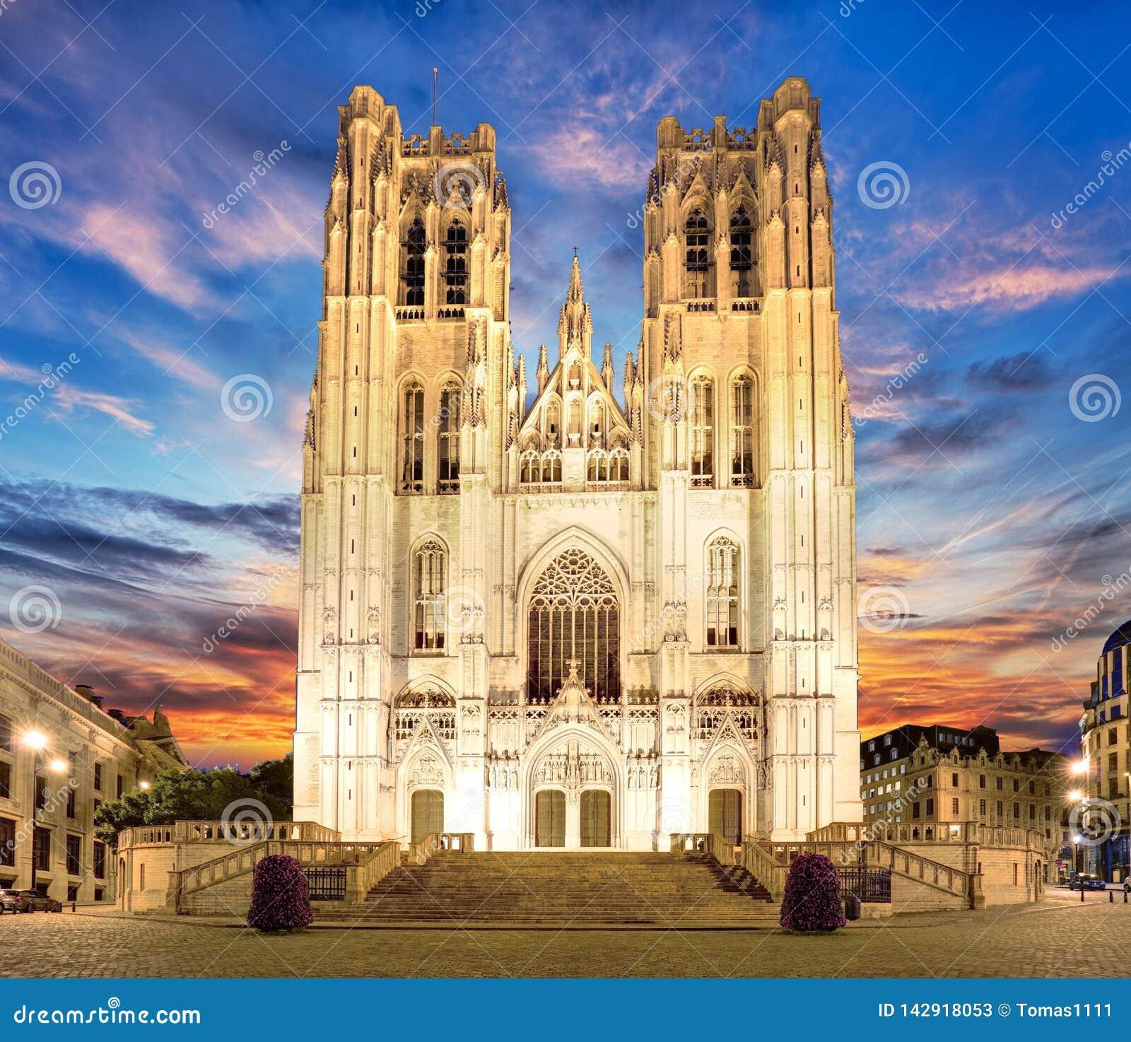 Bruxelles - cattedrale di St Michael e della st Gudula, Belgio