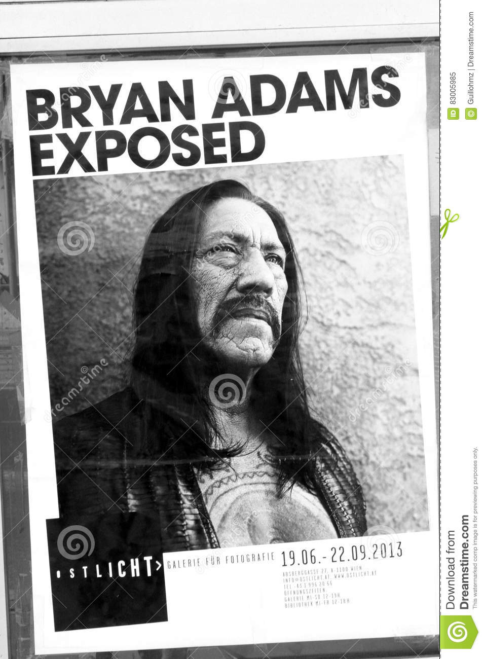 Bryan Adams exposed editorial image  Image of exposition