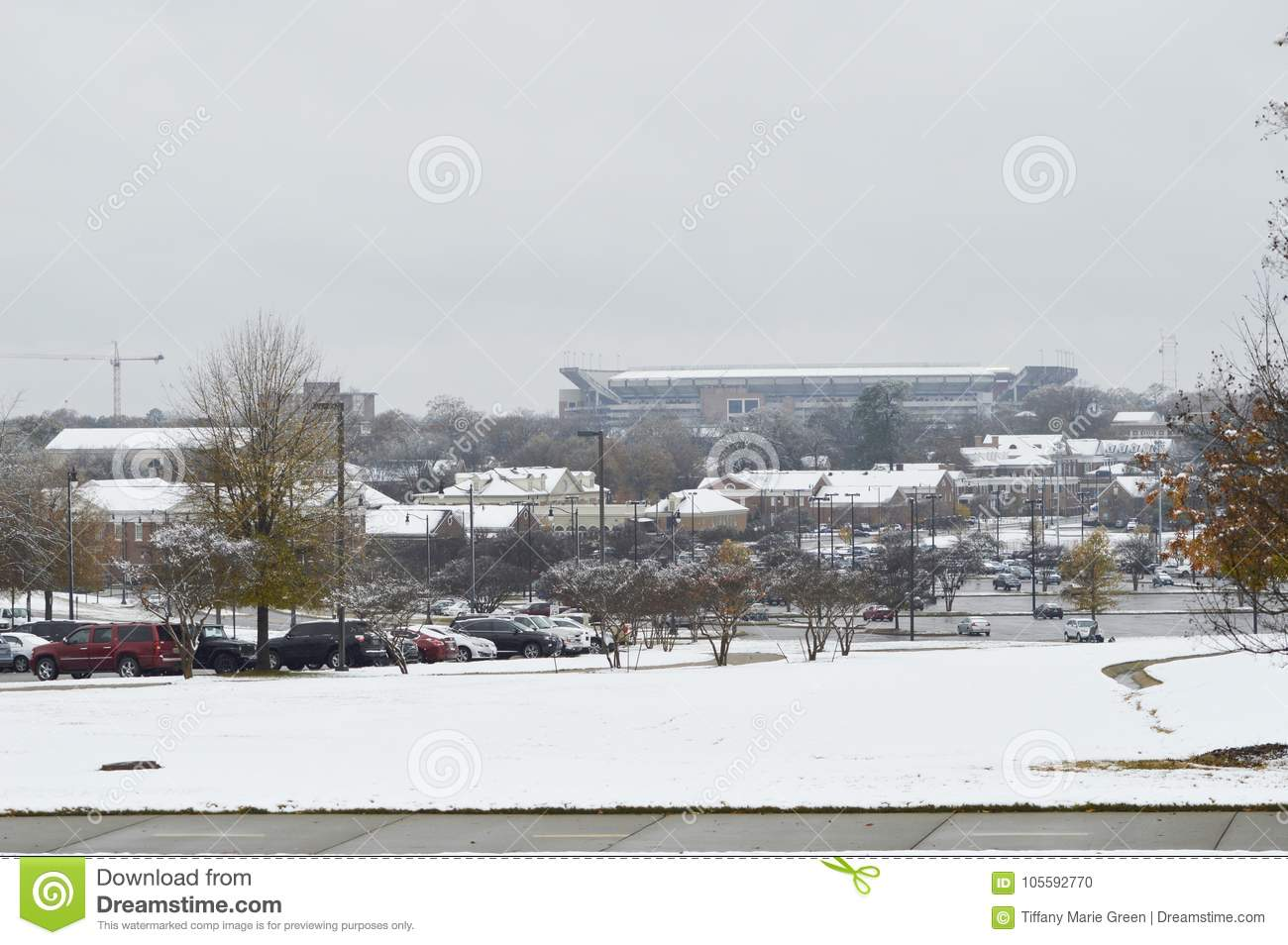 Bryant Denny Stadium On A Snow Day Editorial Image - Image of storm ...