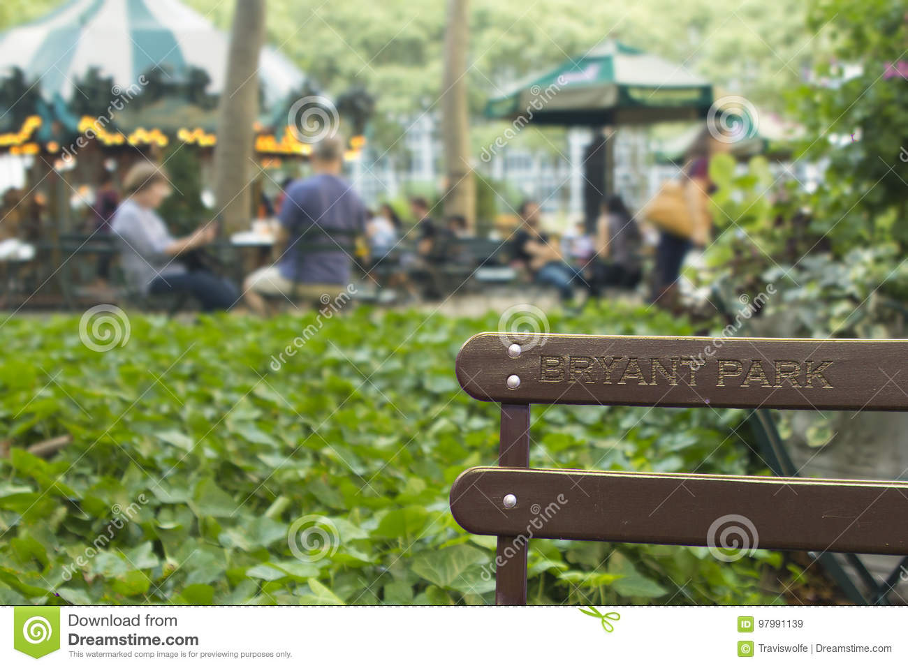 Bryant Park Background Wallpaper High Res Bench With People