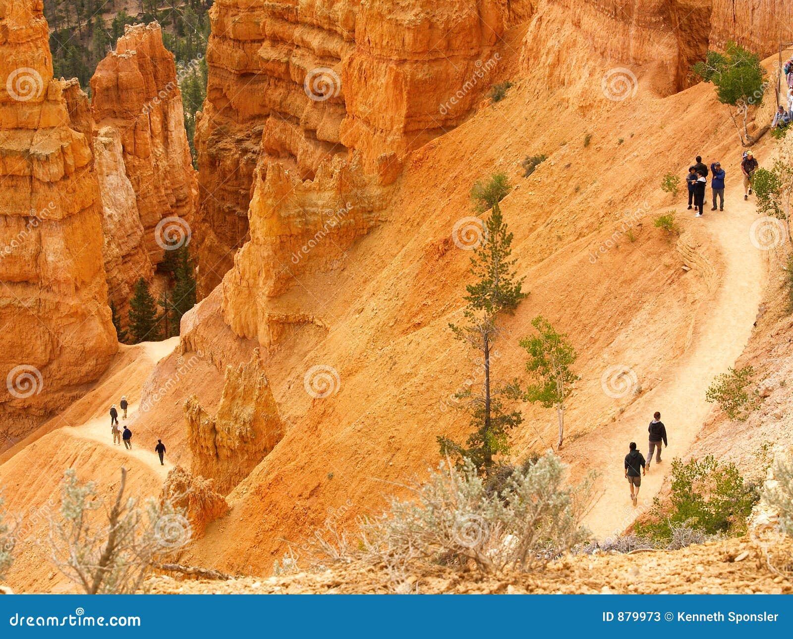 Bryce canyon wędrowcach toru
