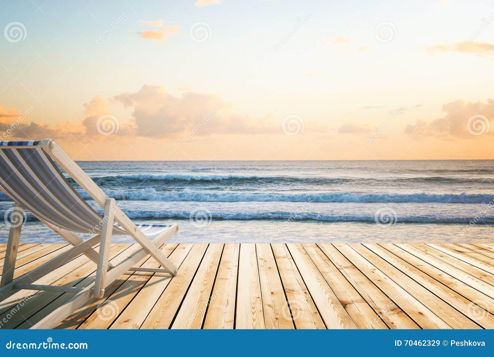 Bryczki longue drewniany podłogowy nadmorski