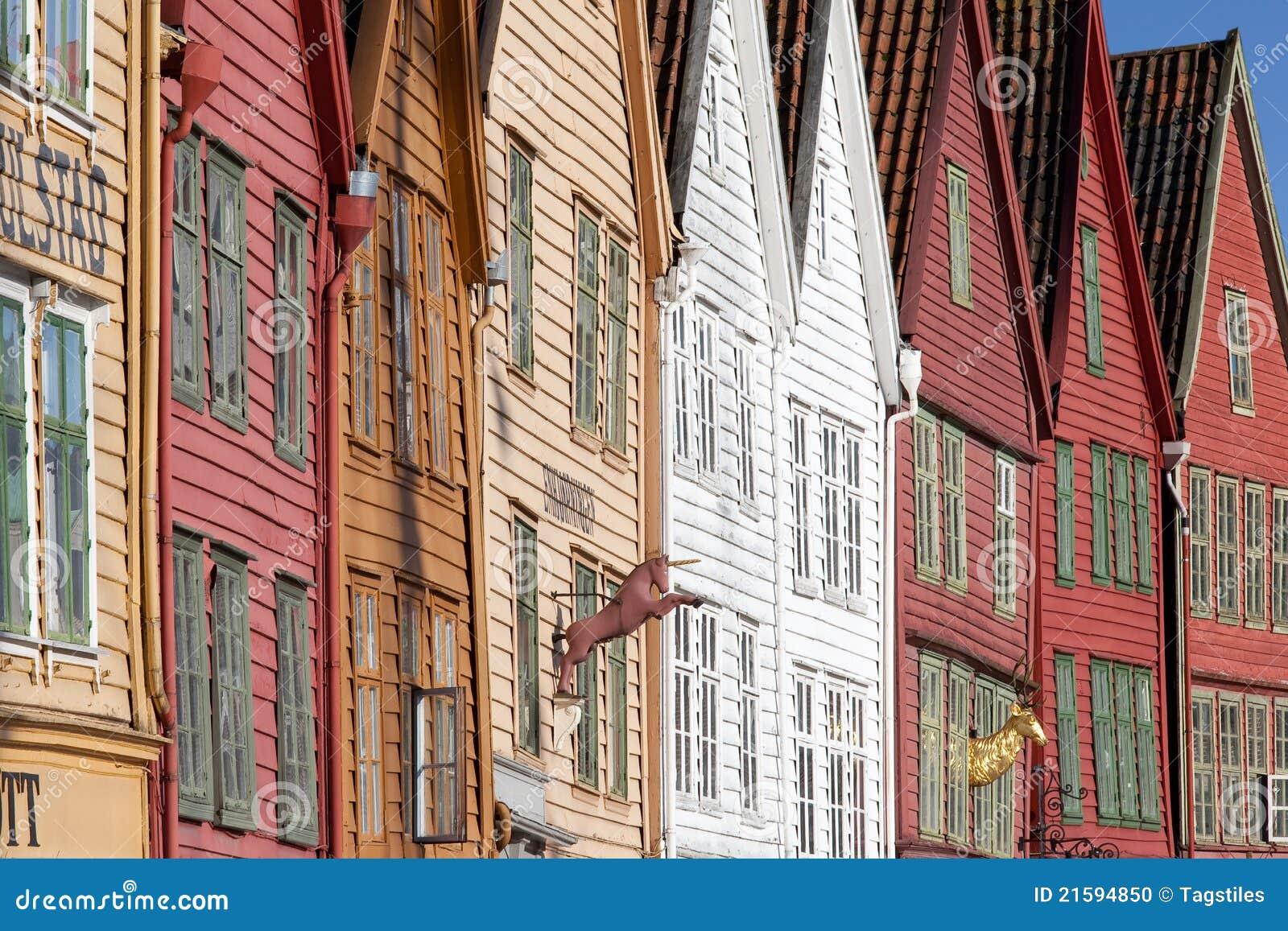 Download Bryggen, Bergen, Norwegen stockfoto. Bild von liga, ferien - 21594850