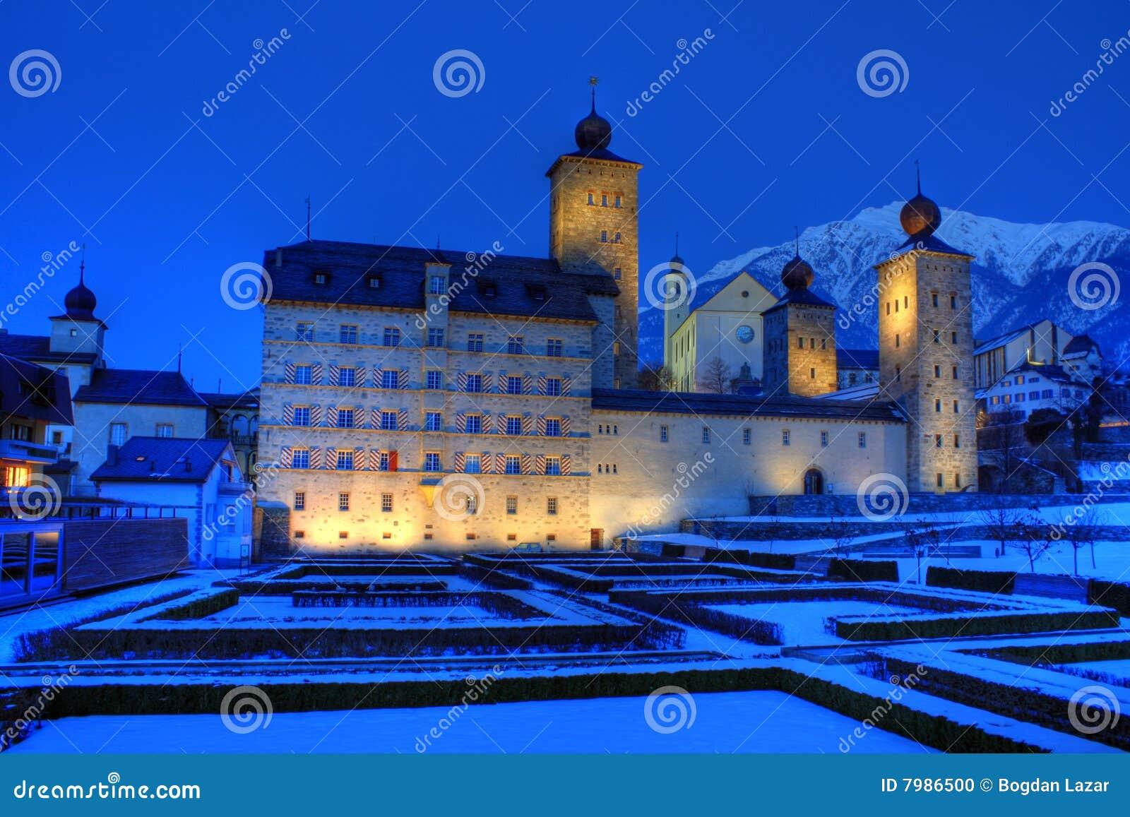 Brygu pałac stockalper Switzerland