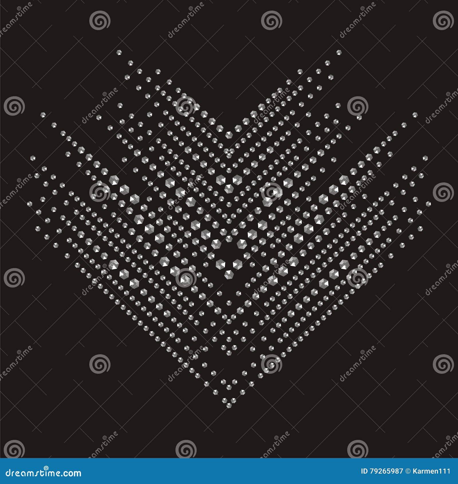 Brylant dryluje strzałkowatego zygzakowatego wzór dla kolii bransoletek Piękna biżuterii broszka