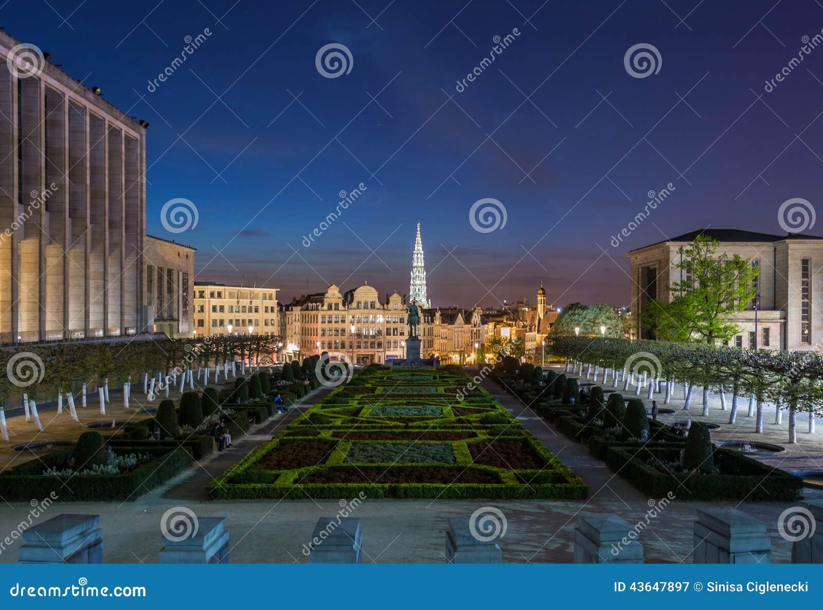 Bryssel på natten, Belgien