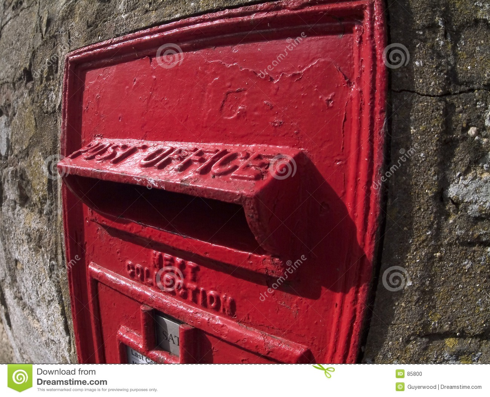 Brytyjska pudełkowata stara pocztę