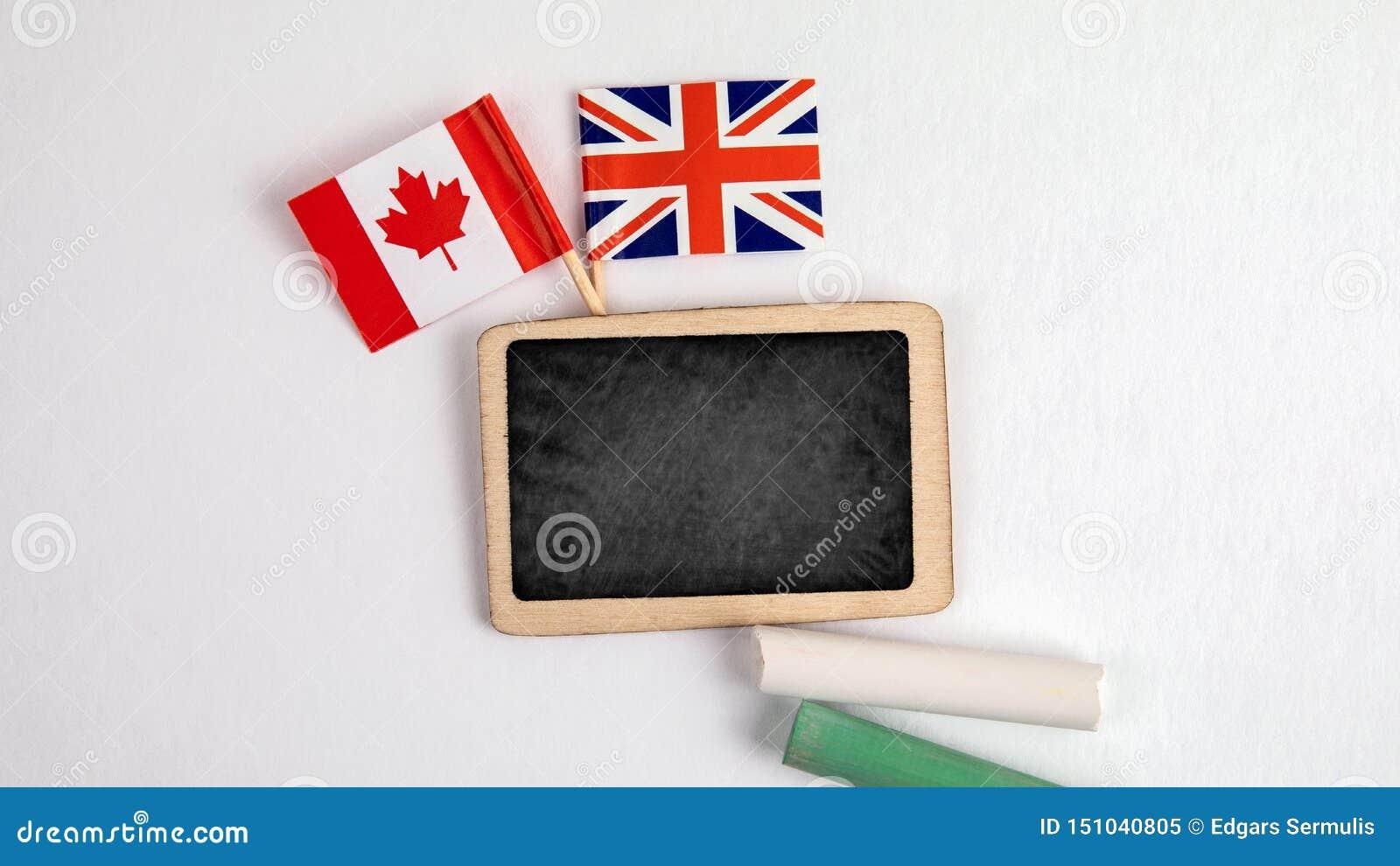 Brytyjski i kanadyjczyka flagi