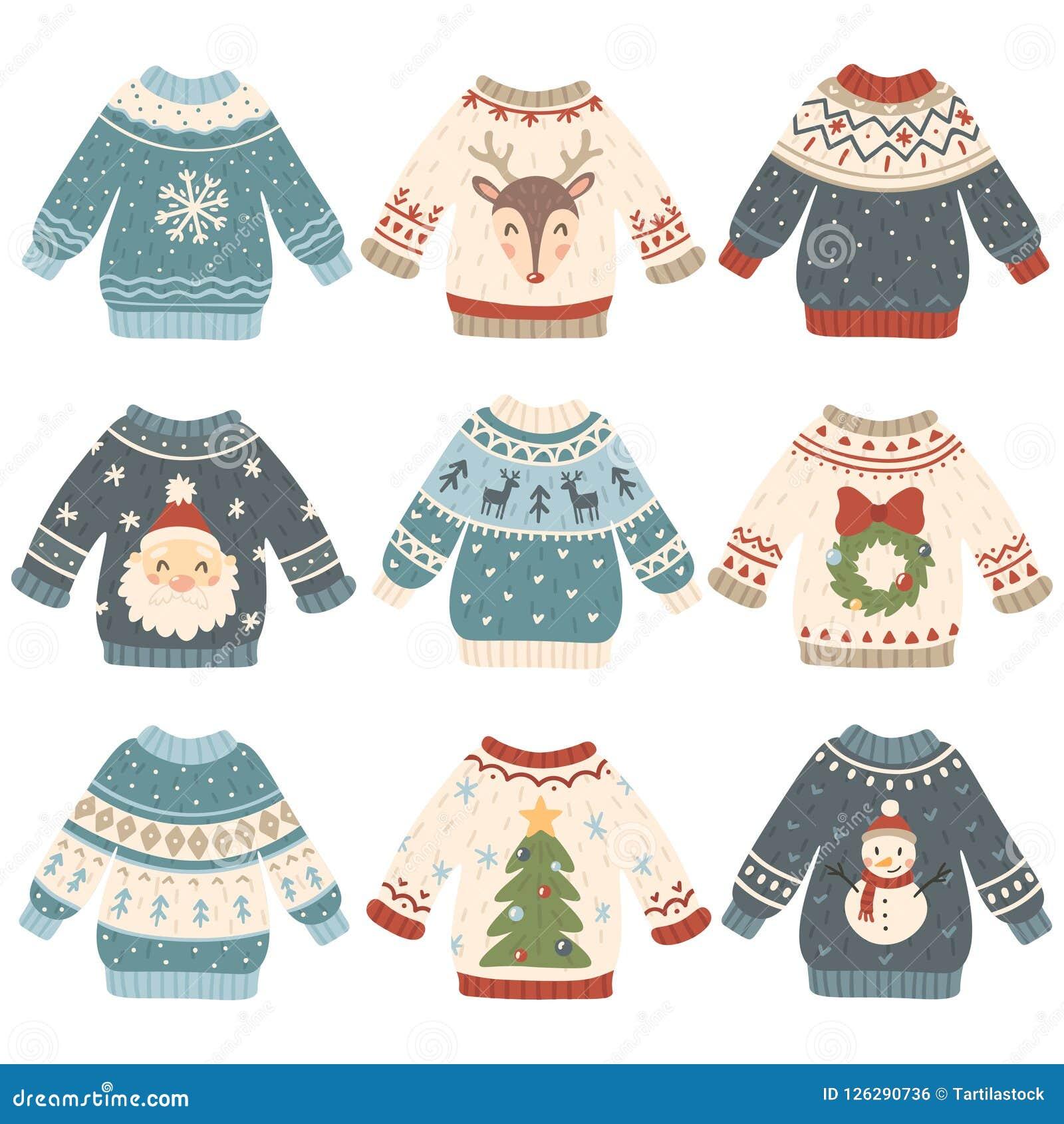 Brzydcy Boże Narodzenie pulowery Kreskówki wełny śliczna bluza Trykotowy zima wakacji pulower z śmiesznym bałwanem, Santa i Xmas,
